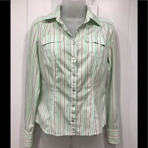 Elie Tahari Fitted Modified Cowboy-Cut Blouse